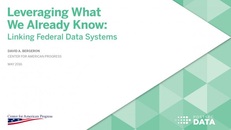 Leveraging What We Already Know: Linking Federal Data Systems